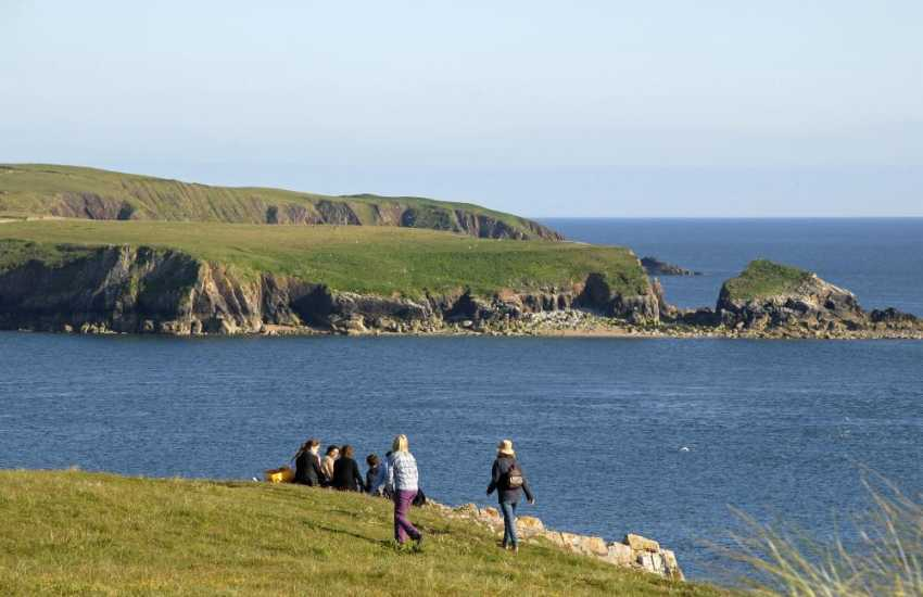 The Pembrokeshire Coastal Path is fabulous for cliff-top walking - 186 miles in total!