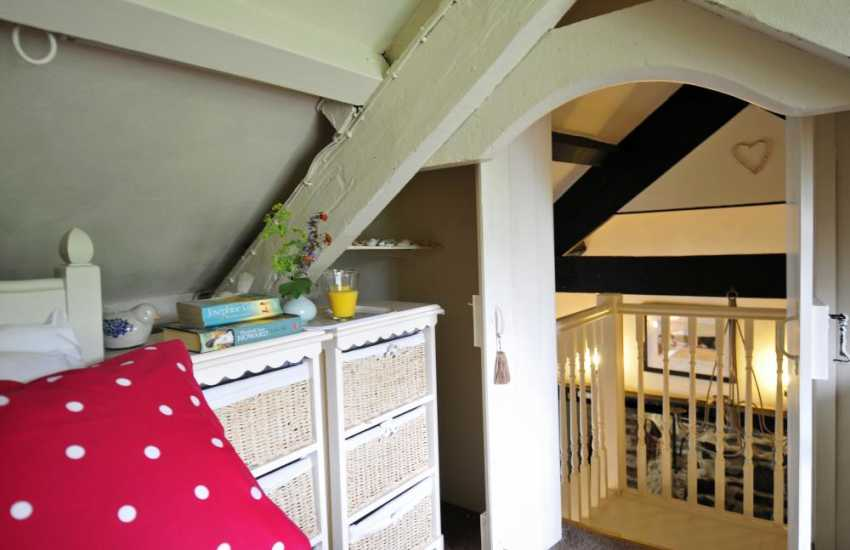 Pet friendly coastal cottage Wales - bedroom
