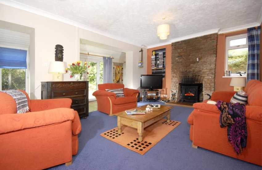 Holiday cottage in Tenby Pembrokeshire - cosy lounge
