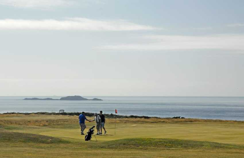 St Davids Golf Course is a spectacular 9-hole course on the headland overlooking Whitesands Beach - a real challenge!