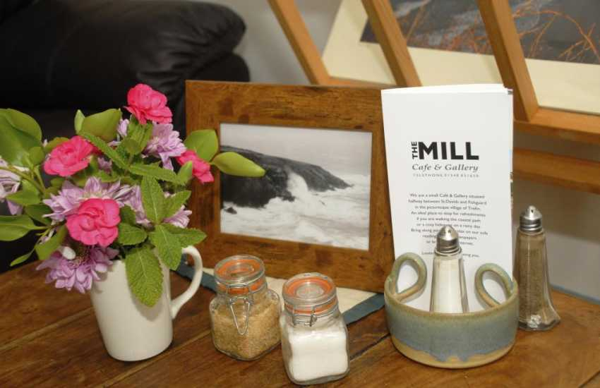 The Mill Cafe and Gallery in Trefin offers delicious full Welsh breakfasts, lunchtime treats and mouthwatering homemade cakes