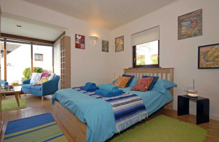 St Davids family holiday home - upper floor double with small sunroom