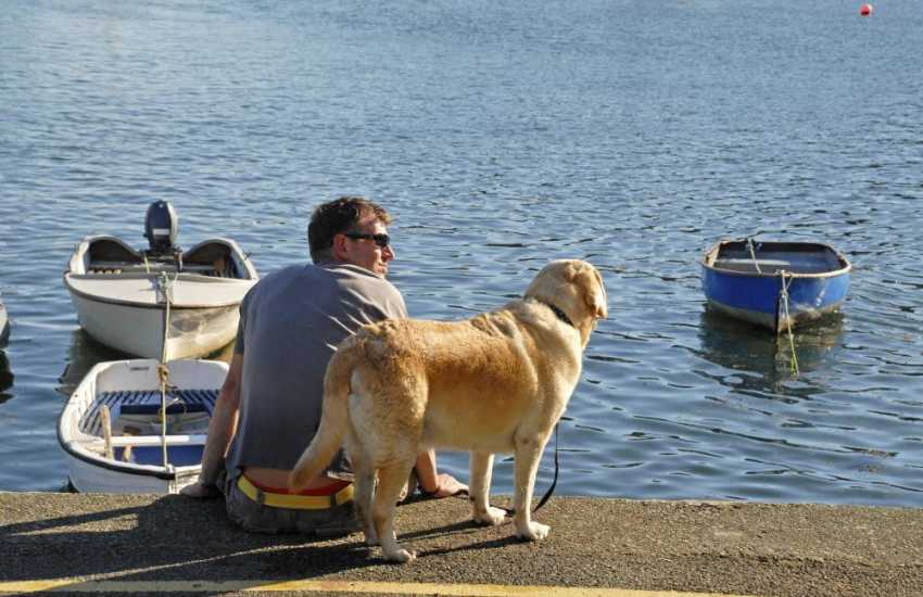 Most Quality Cottages are pet friendly - enjoying a quiet moment together