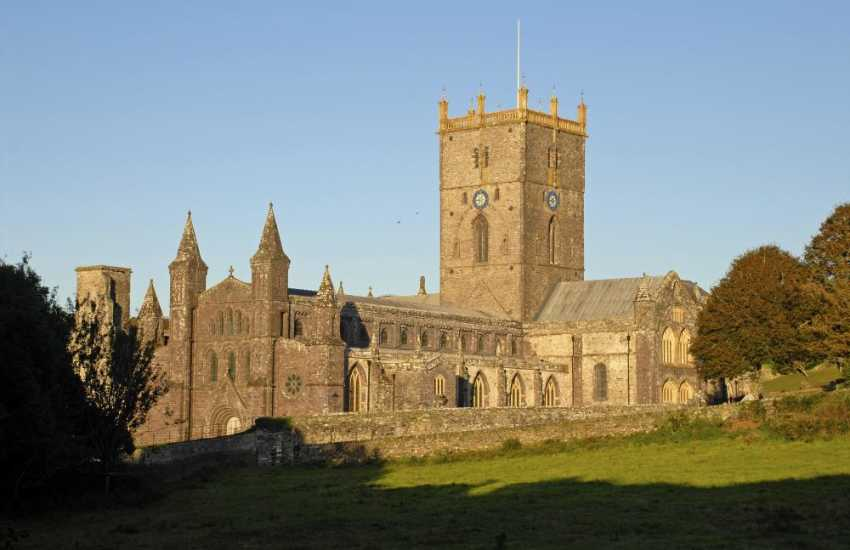 The magnificent medieval St Davids Cathedral and ruined Bishops' Palace - a most memorable place to visit
