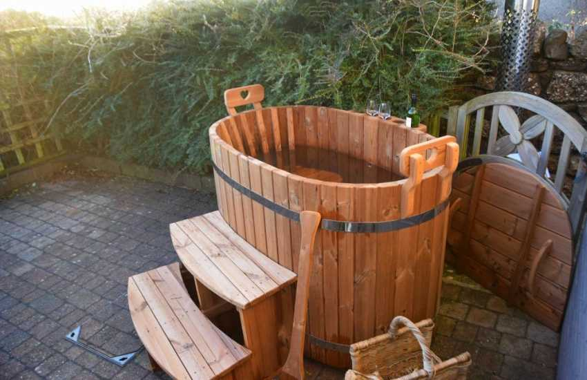 Gower holiday apartment - hottub