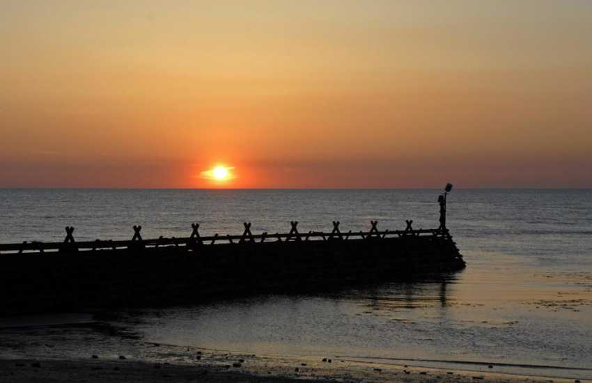 Enjoy stunning sunsets over Cardigan bay from the harbour