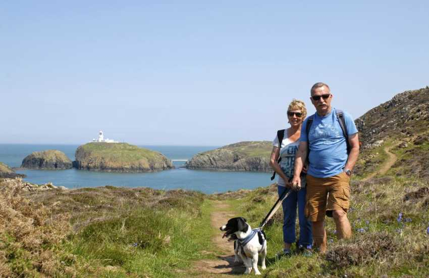 Enjoying the Pembrokeshire Coast Path - most Quality Cottages are dog friendly