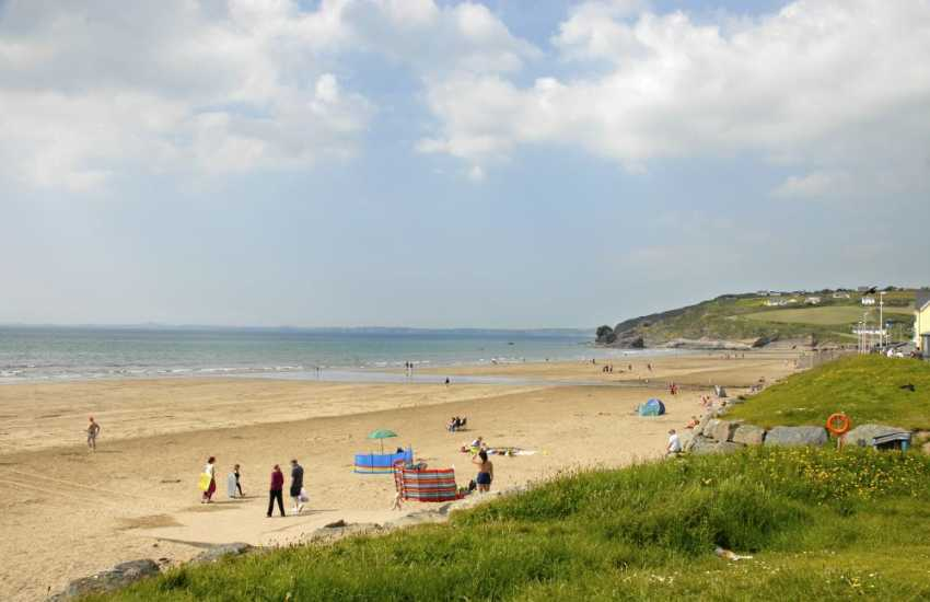 Broad Haven North - a beautiful Blue Flag sandy beach popular with families and water sport enthusiasts