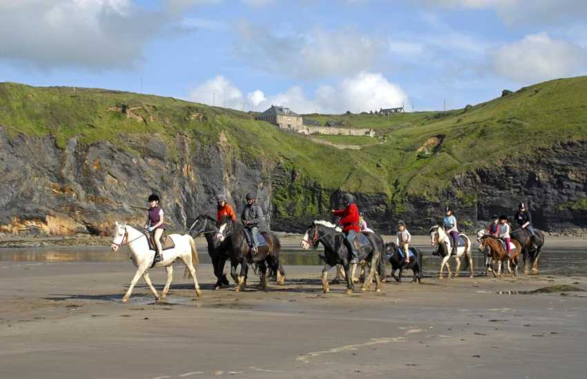 Nolton Haven Riding Stables caters for all levels of rider experience - a beach ride is great fun!