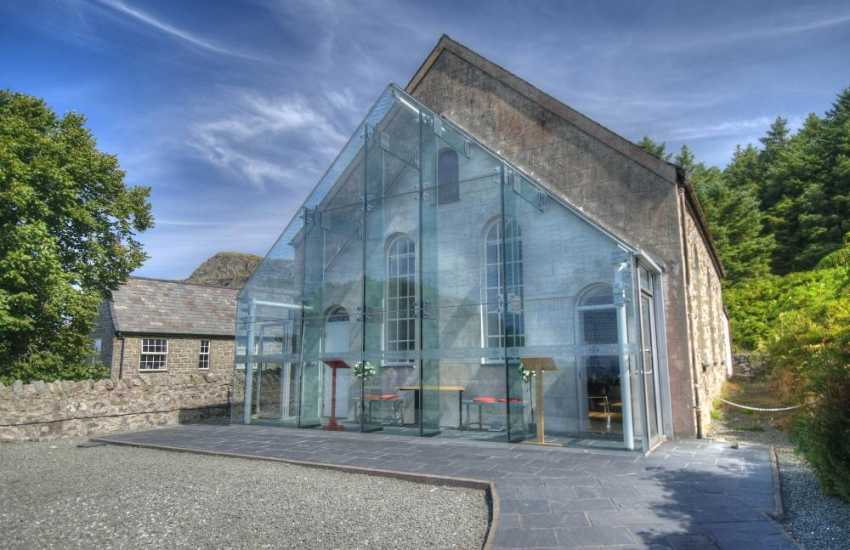 Visitor centre and cafe at Nant Gwrtheyrn on the Llyn Peninsula
