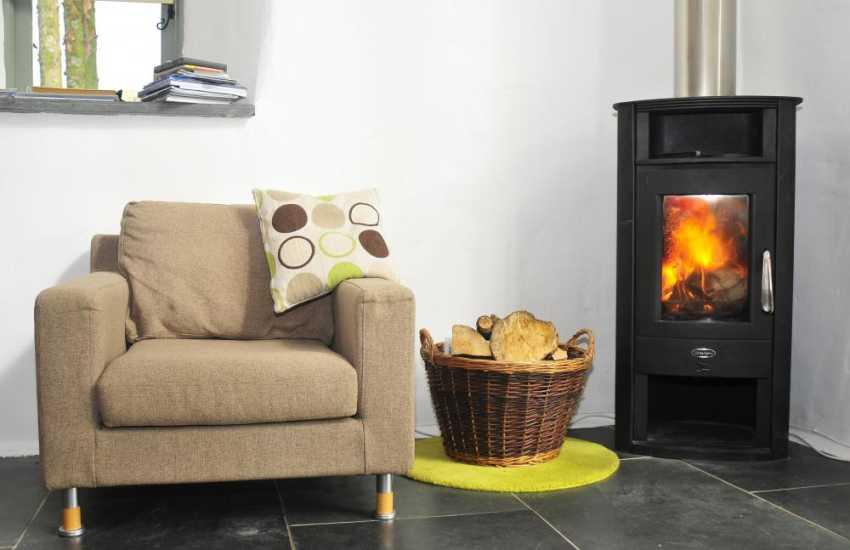 Holiday copttage Harlech - Log Burner