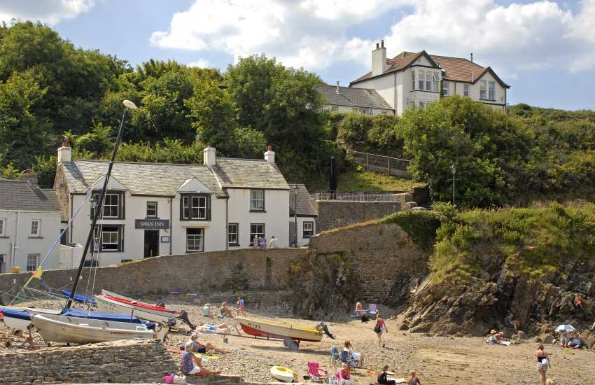 Little Haven is the destination provided by St Brides Bay Water Taxi - enjoy lunch in The Swan Inn and walk back to Solva along the coast