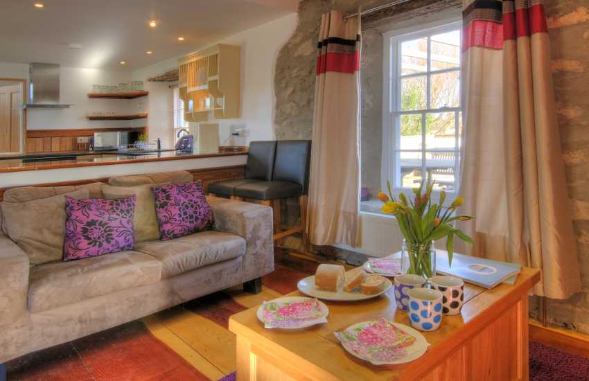 Cottage with hot tub Wales - lounge
