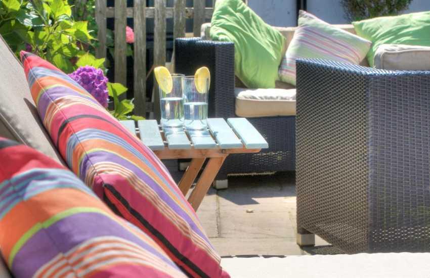 Morfa nefyn holiday cottage  - patio