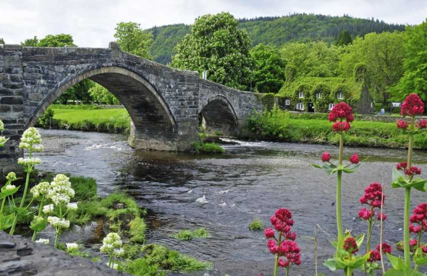 Llanrwst, in the Conwy Valley, at the edge of the Snowdonia National Park in North Wales