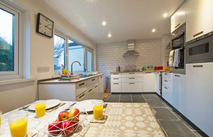 Large luxury holiday house Wales - kitchen
