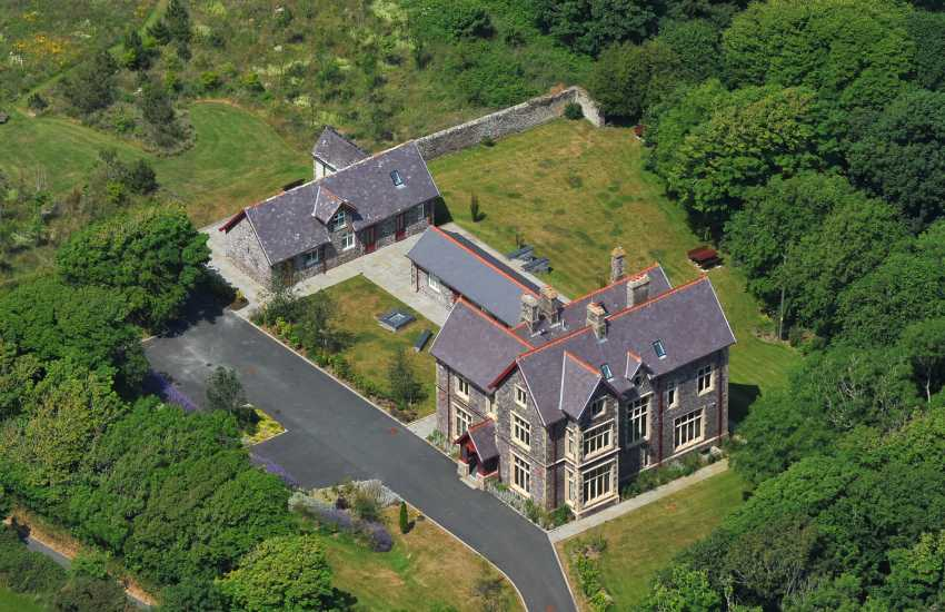 The Priory aerial view