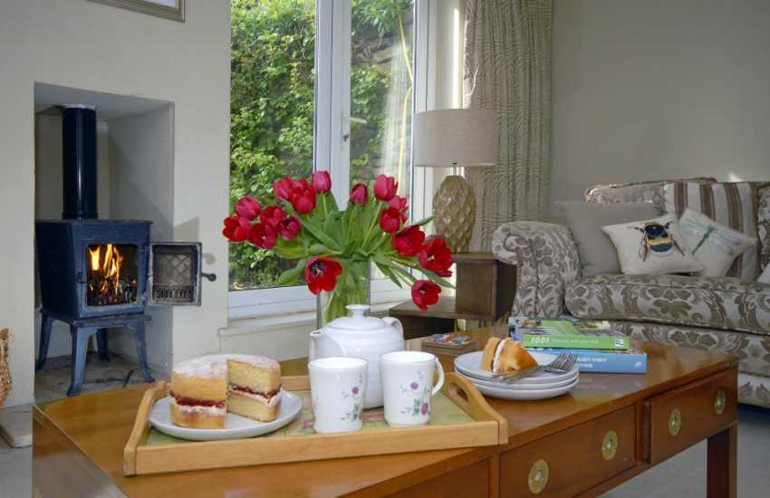 Pembrokeshire family holiday home with cosy wood burning stove
