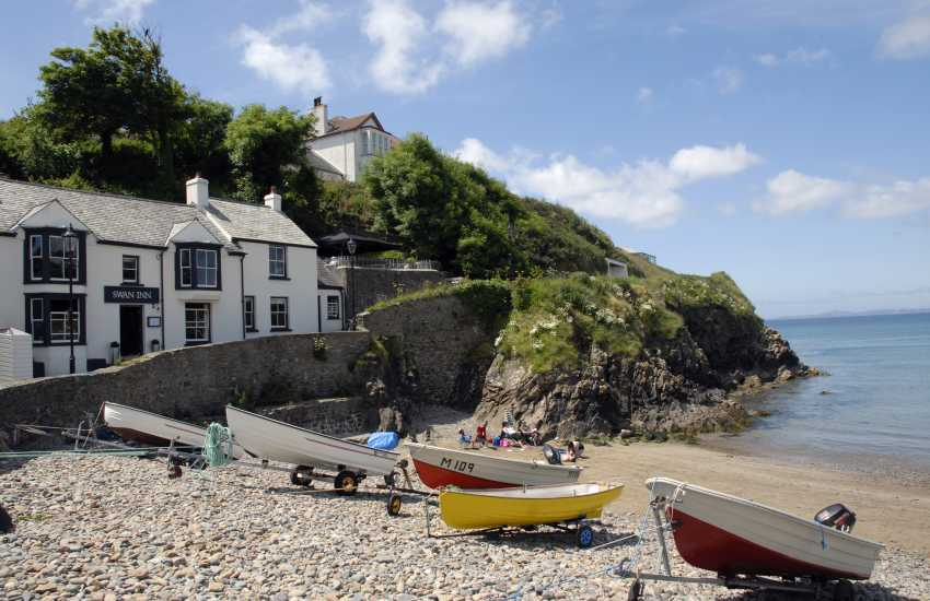 Little Haven is one of the destinations visited by St Brides Bay Water Taxi - enjoy lunch at The Swan Inn and walk back to Solva along the coast