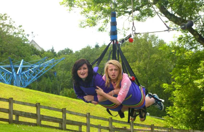 Folly Farm, Tenby Dinosaur Park, Heatherton, Anna's Welsh Zoo and Oakwood Theme Park are just some of the family attractions