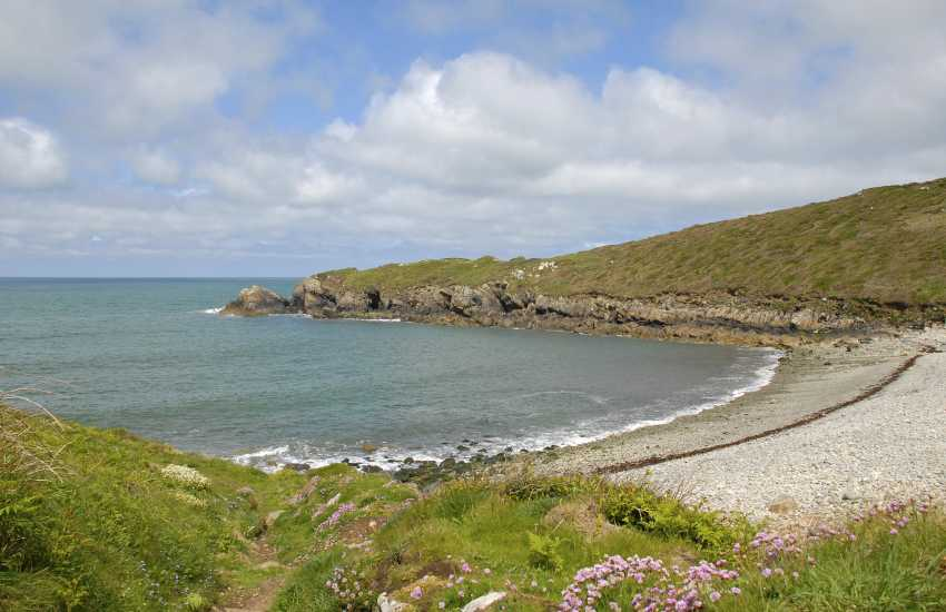 Aberbach Cove - a sheltered pebbled beach just north of Abermawr