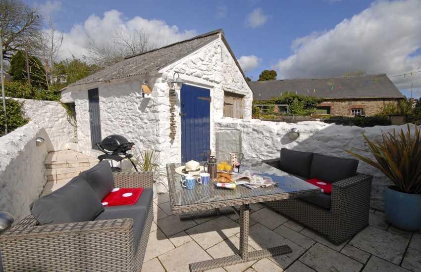 Small enclosed terrace