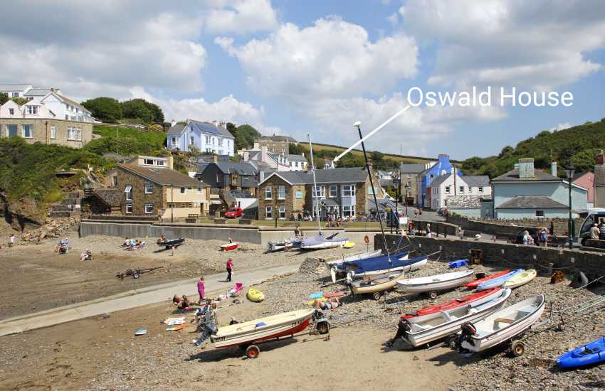 Little Haven - a sheltered sandy cove just a 5 minute stroll from Oswald House