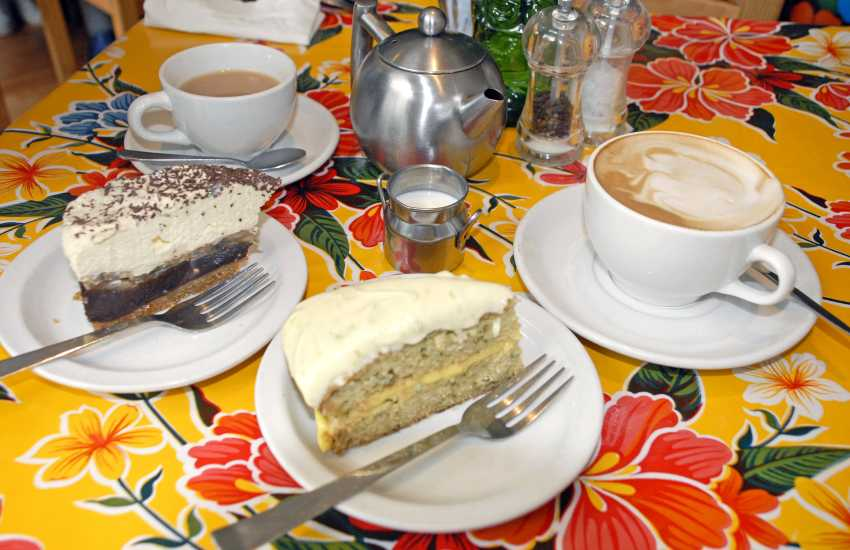 Do go to Plum Vanilla, in Narberth - a quirky little eatery serving tasty home made dishes and mouth watering cakes!