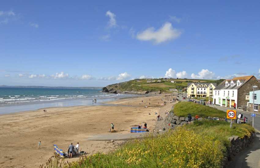 Broad Haven Beach (Blue Flag) is a glorious expanse of golden sand great for ball games, swimming, windsurfing and canoeing