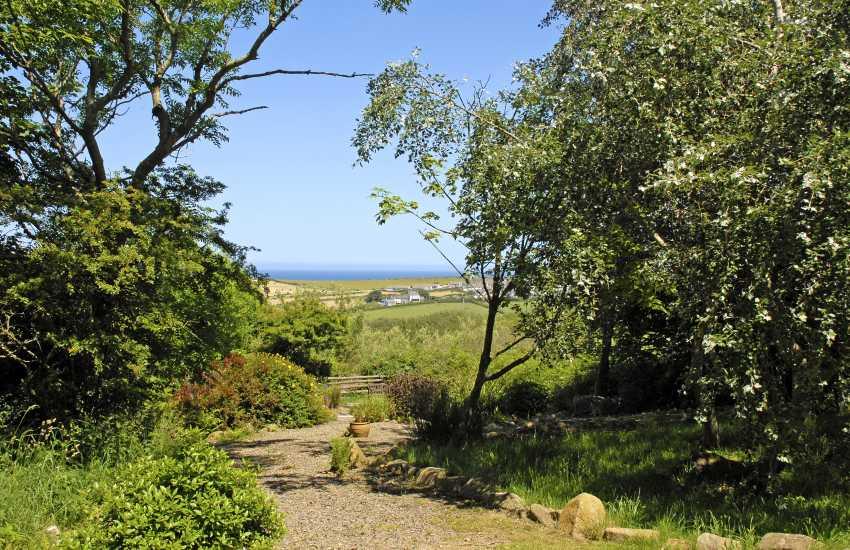 Garden views down to Trefin and the coast