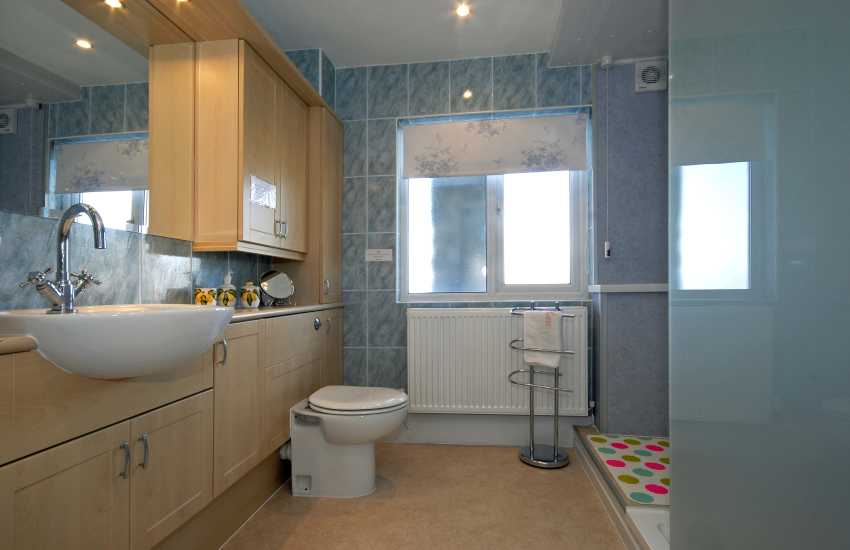 Pembroke holiday home - large walk in shower room