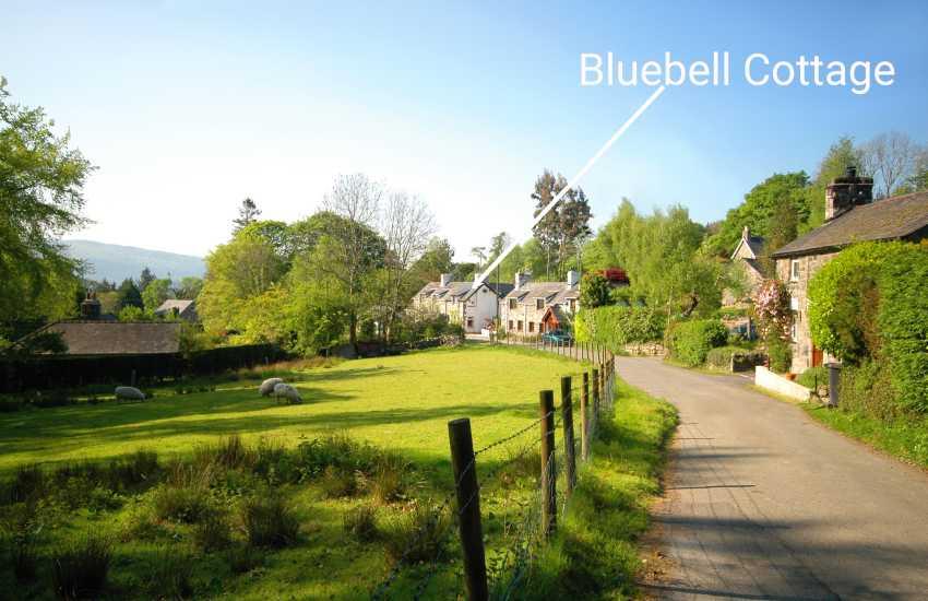 Bluebell Cottage nestled in a little rural hamlet
