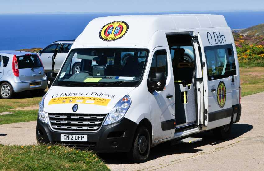 The excellent mini bus service that runs along the northern Llyn coastal villages, an absolute bargain for tourists
