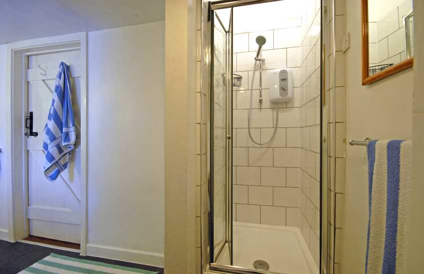 Bathroom with separate shower
