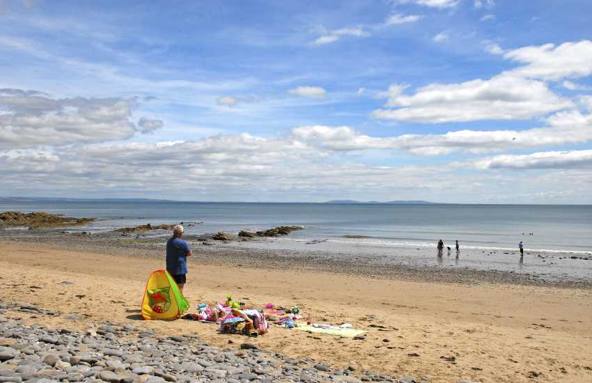 Wisemans Bridge Beach - dog friendly all year round and only a short drive away