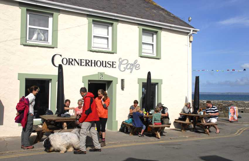 Cornerhouse Cafe is right next to the beach - enjoy a breakfast bap, simple lunch, or a mouthwatering dessert!