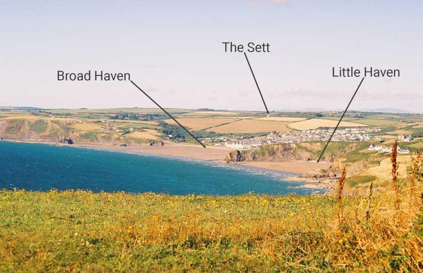 Pembrokeshire cottage location
