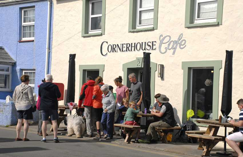 The Cornerhouse Cafe, Little Haven - a popular spot for great coffee, great breakfast, lunch or desserts