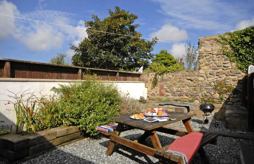 Bryn Road Cottage - enclosed rear garden
