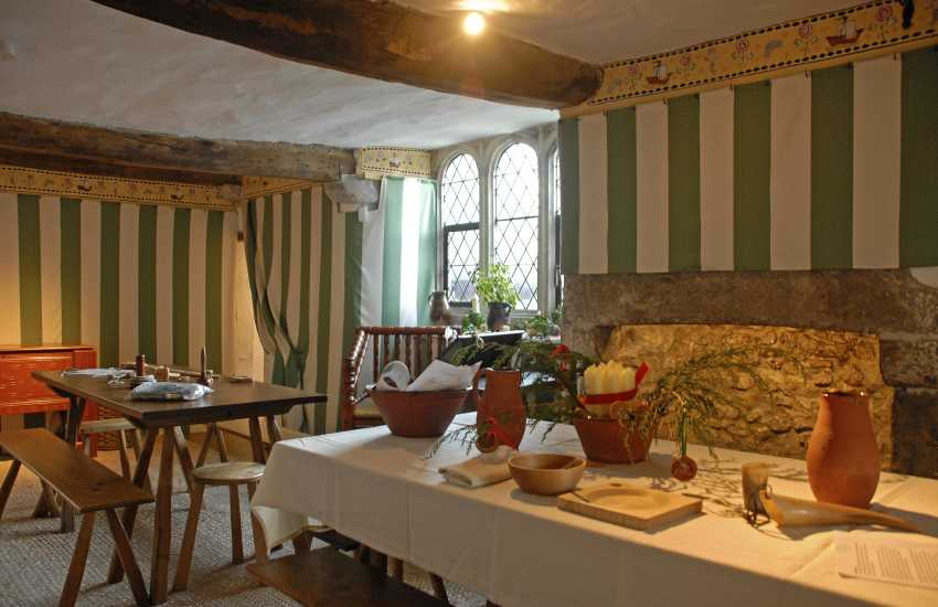 Visit Tenby's 15th century Tudor Merchants House (N.T.) for wonderful tales of times long ago