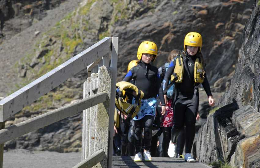 TYF Adventure Centre in St Davids offer a wide range of activities including bike hire, rock climbing, sailing and coasteering