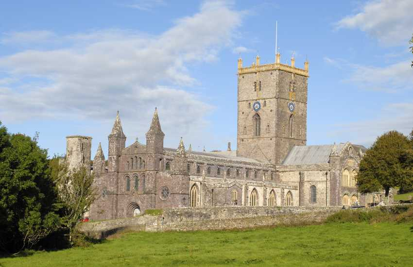 Visit St Davids magnificent 12th century Cathedral and ruined Bishops Palace