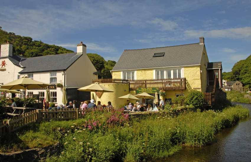 Solva - an ideal place to relax and enjoy homemade ice cream at Number 35 on the river bank