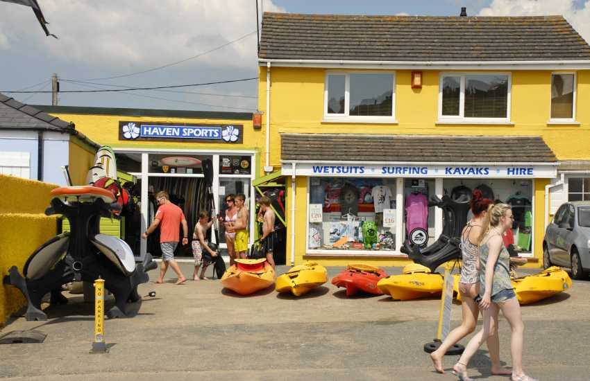 Haven Watersport's, Broad Haven, offer a full hire service from kayaks to surf, paddle and body boards plus wetsuits