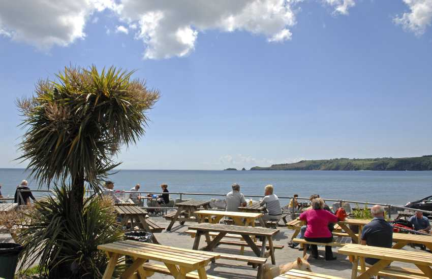 The Wisemans Bridge Inn is a 16th century pub overlooking the beach-a lovely spot for a pint any time of the day