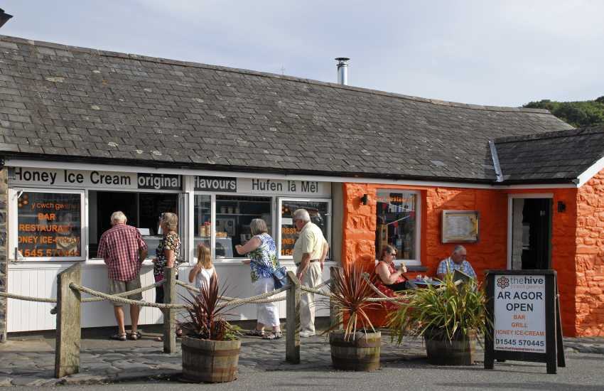 Visit the Hive on Aberaeron Quay for delicious honey ice cream