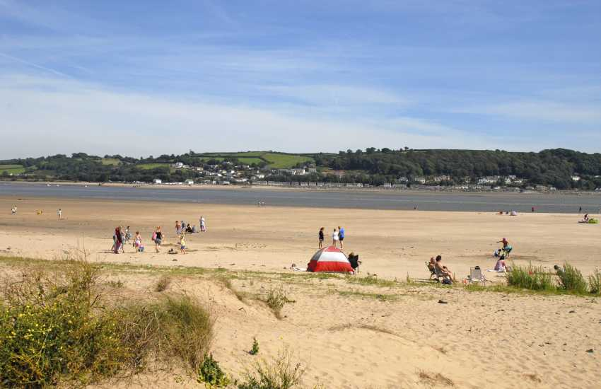 Llanstephan Beach - a lovely long stretch of golden sand at low tide