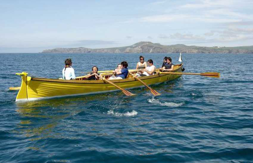 Join the locals at Porthgain harbour for the chance at rowing a six-oared gig on Monday nights!