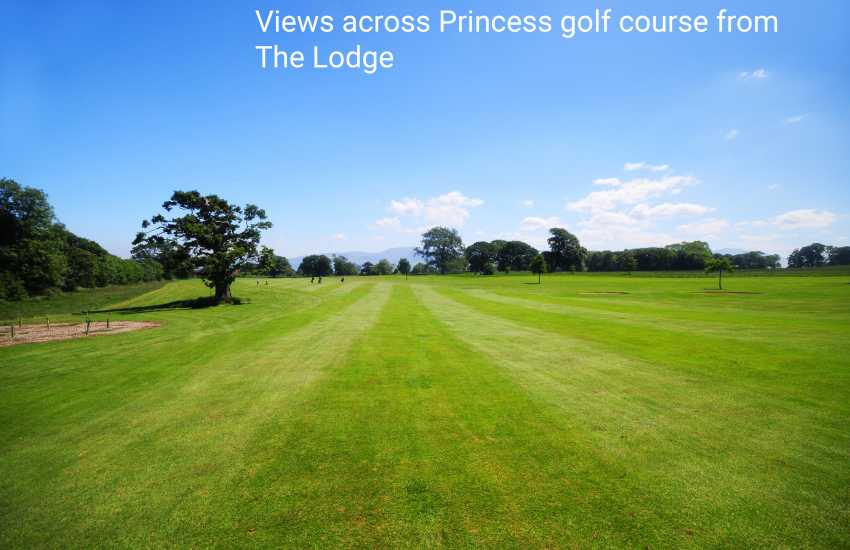 Views across Princes Golf Course from The Lodge