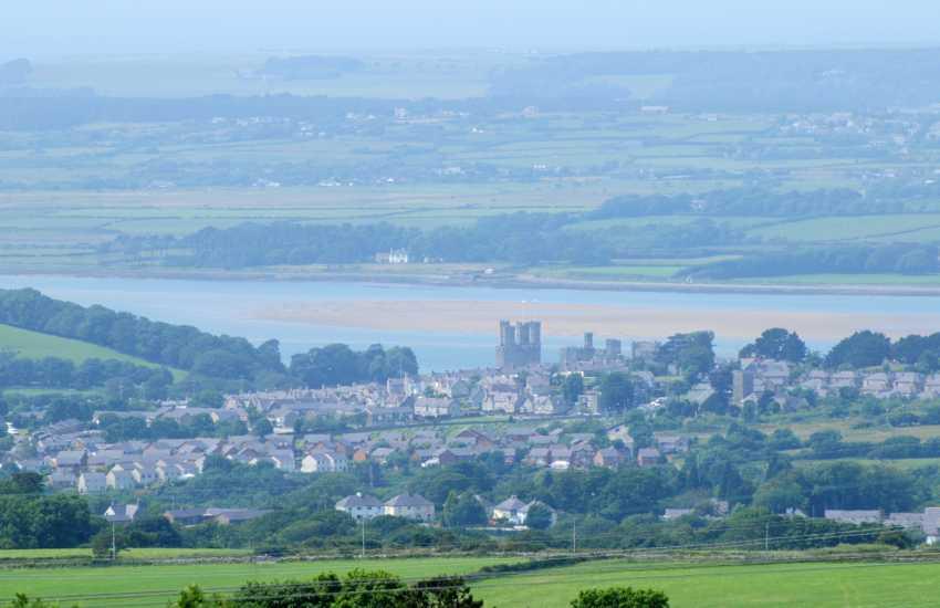 Views of Caernarfon Castle & Menai Strait from Beech Tree Cottage
